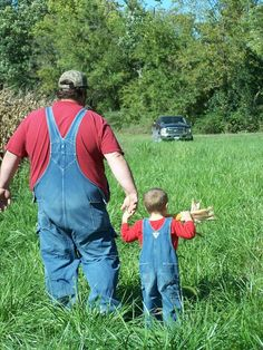 father and son overalls