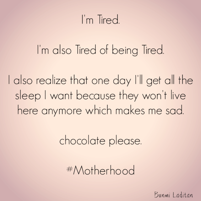 tired of being tired